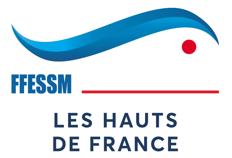 Les Hauts de France FFESSM Logo quadri red